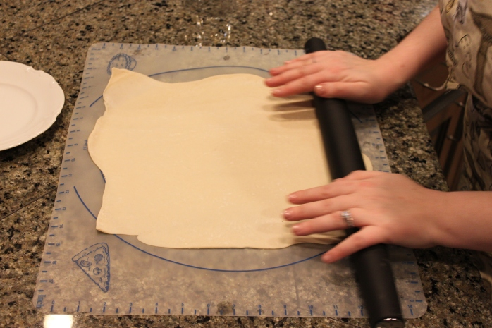 Rolling the dough out