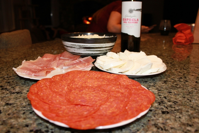 toppings and wine for pizza