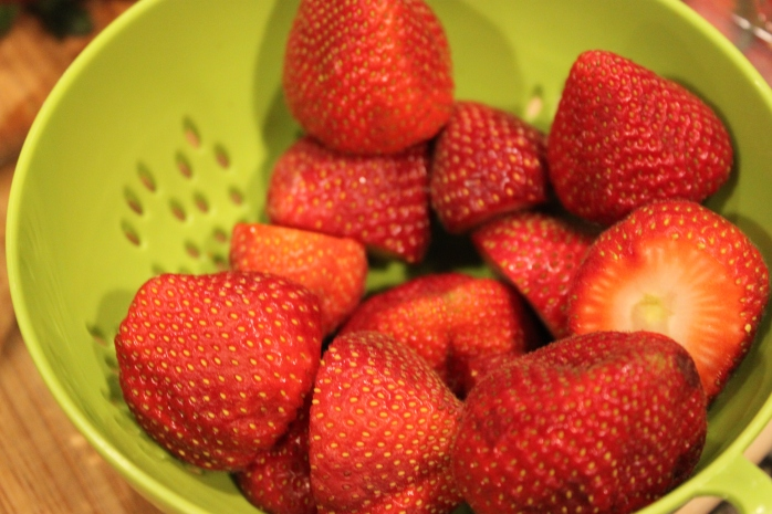 washed strawberries