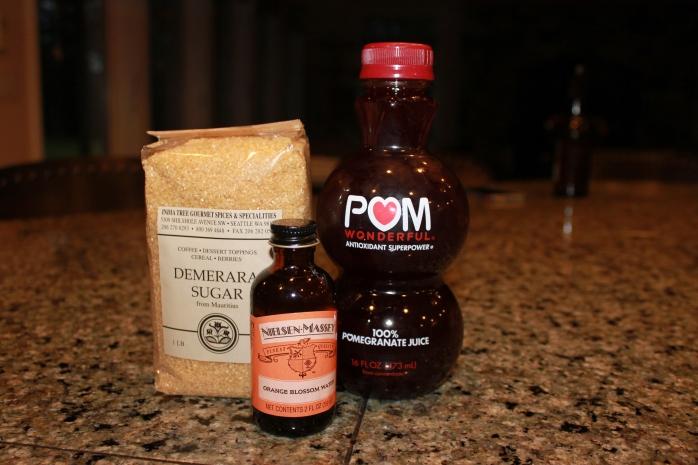 Ingredients for grenadine