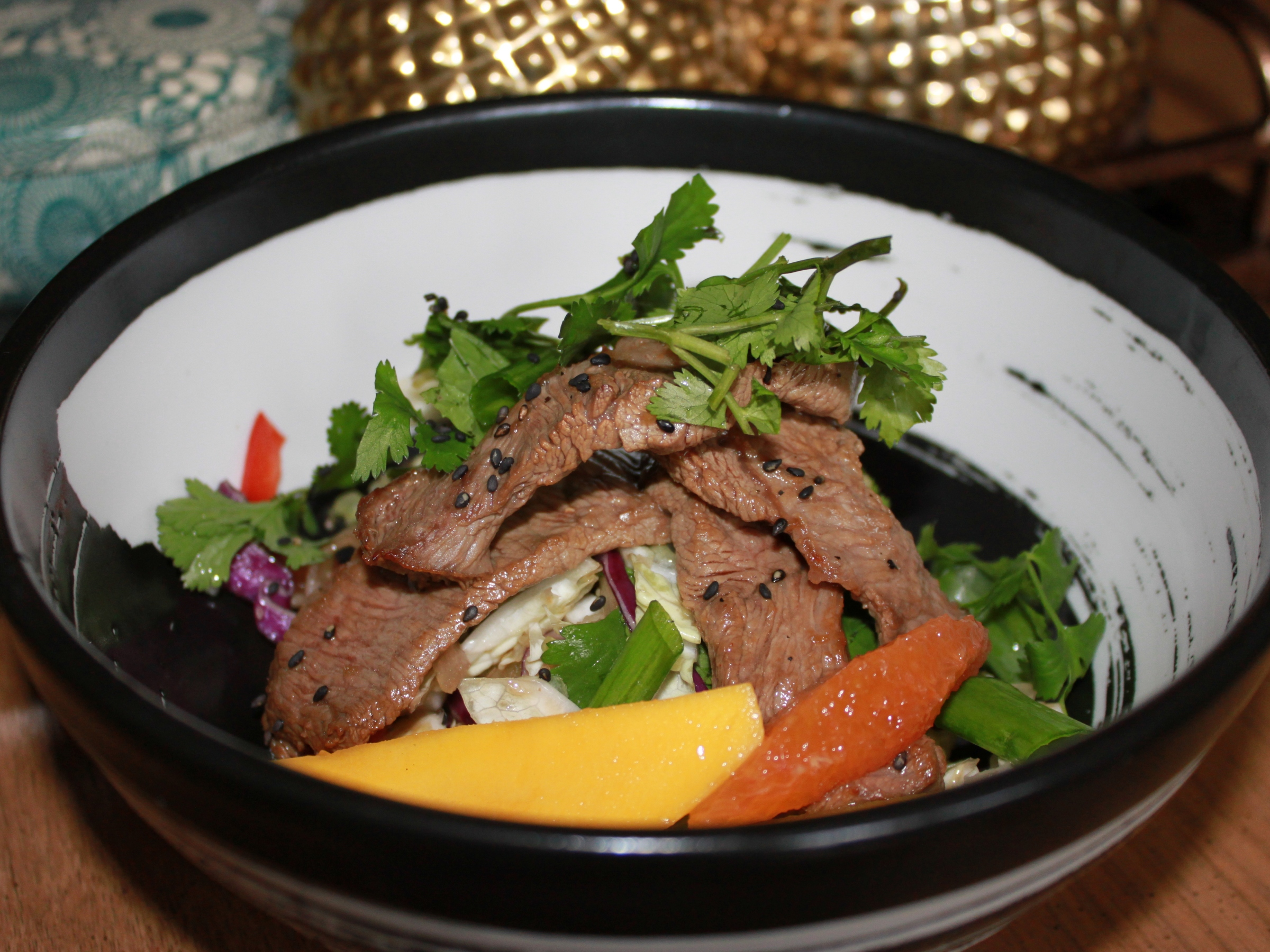 Thai beef salad ready to eat