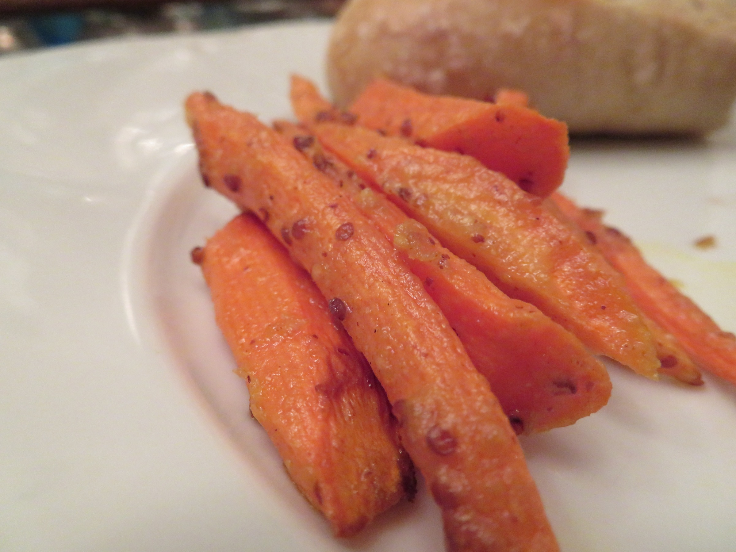 mustard roasted carrots