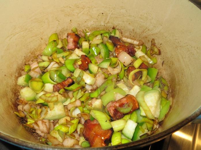 vegetables and salt pork