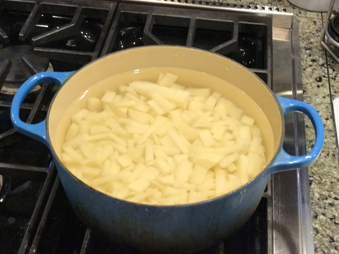 potatoes cooking