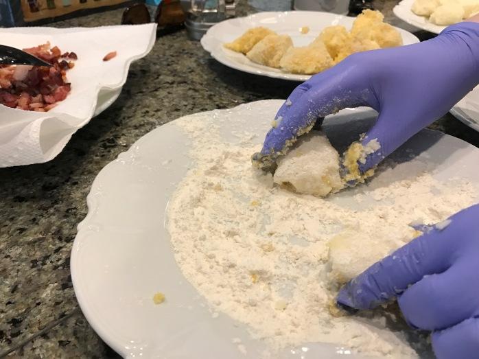 croquette in flour